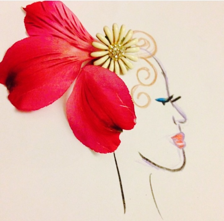 Flower Collage Illustrations