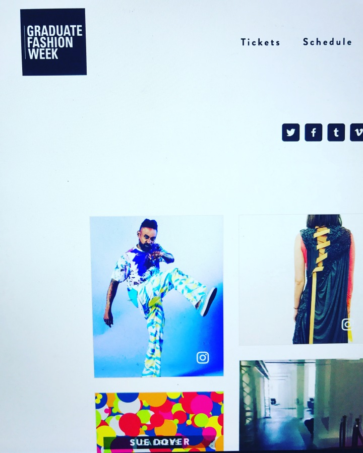 Media coverage on GRADUATE FASHION WEEK  website !!